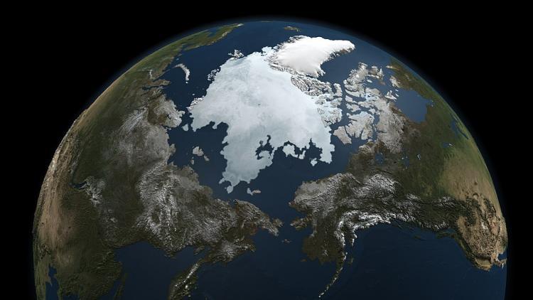 estensione del ghiaccio artico NASA