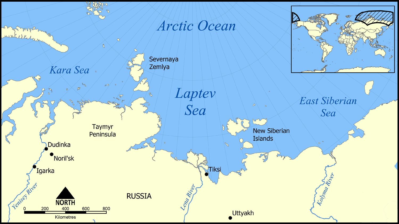 mar glaciale artico cartina europa