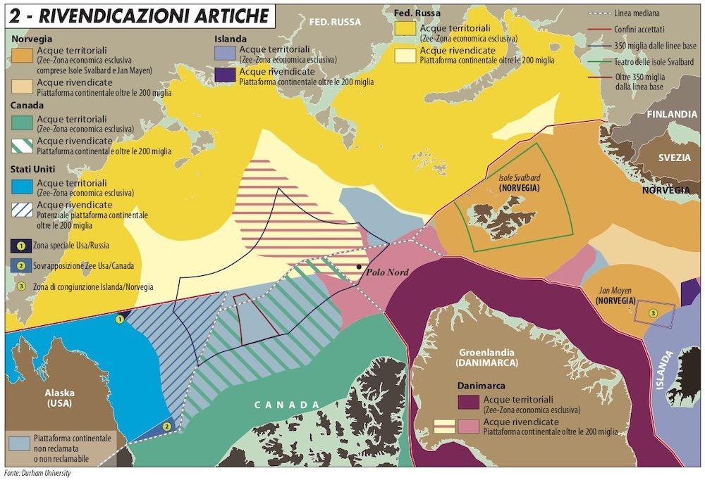 rivendicazioni territoriali artico