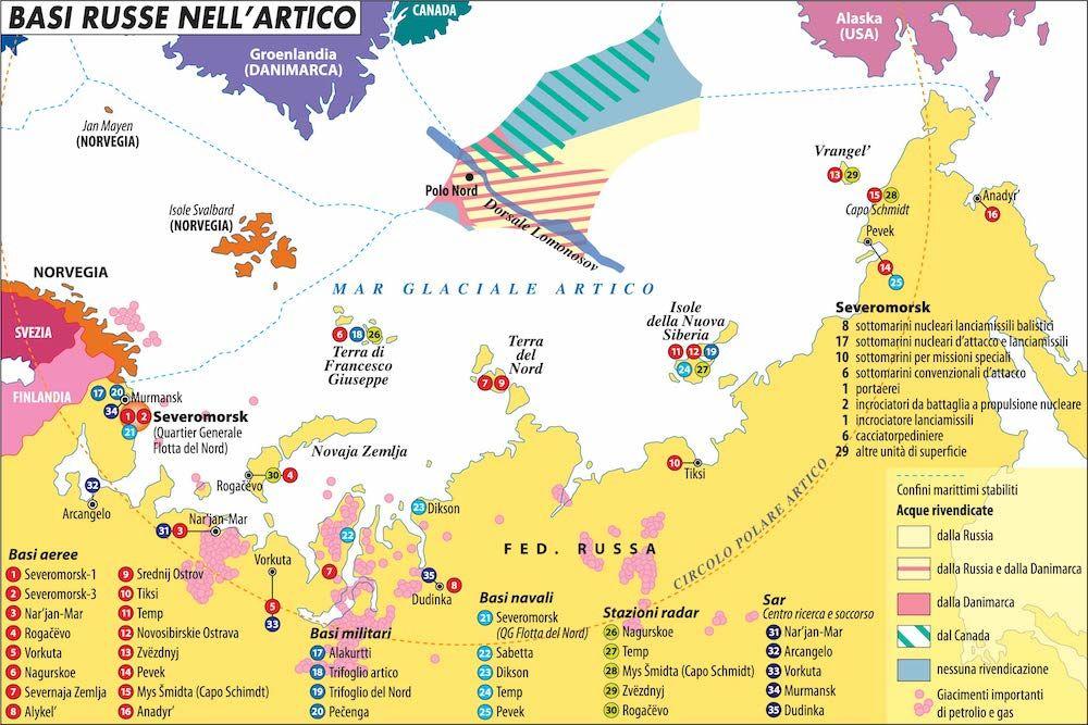 basi militari russe artico