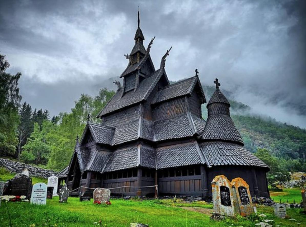 chiesa di legno norvegia