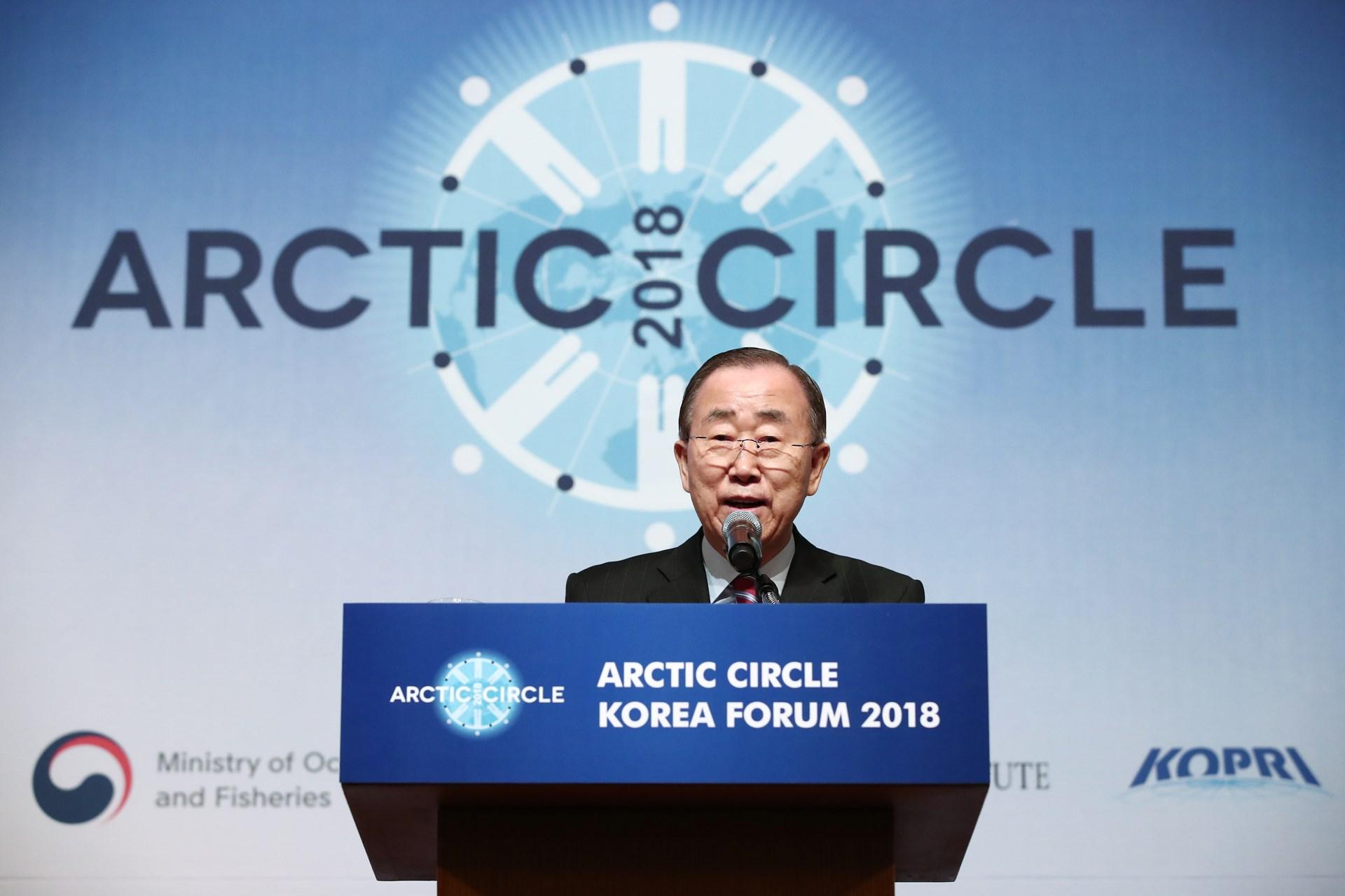 ban ki moon arctic circle