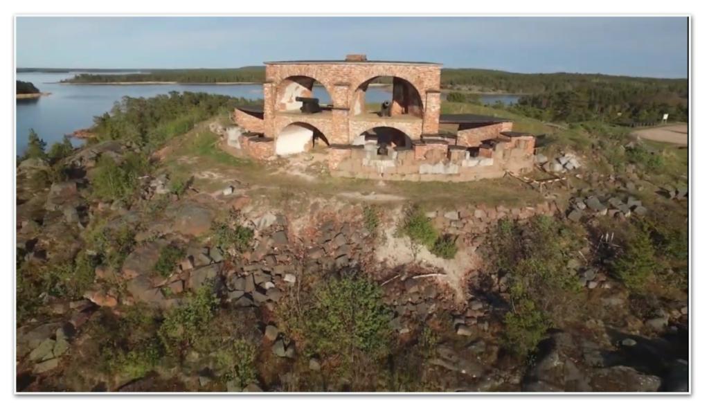 La fortezza di Bomarsund åland