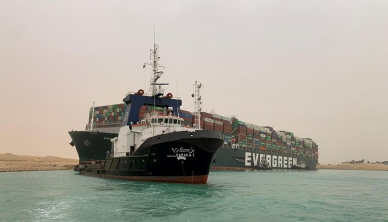 Ever Given from Suez Canal Authority
